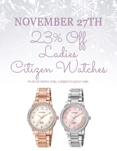 November 27 promotion citizen watches