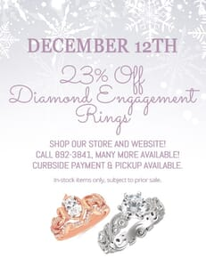 23% off diamond engagement rings